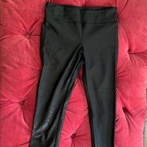 Koral Lustrous Black Pattern Legging Size L